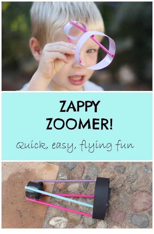 Quick and easy flying fun. An easy flying contraption that will take 10 minutes to make and hours of playing fun afterwards. An alternative to your traditional paper aeroplane. Great for a summer day when the sun is not shining.