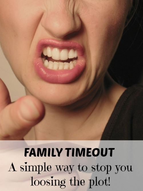 Family Timeout. A simple solution for when you're feeling overwhelmed