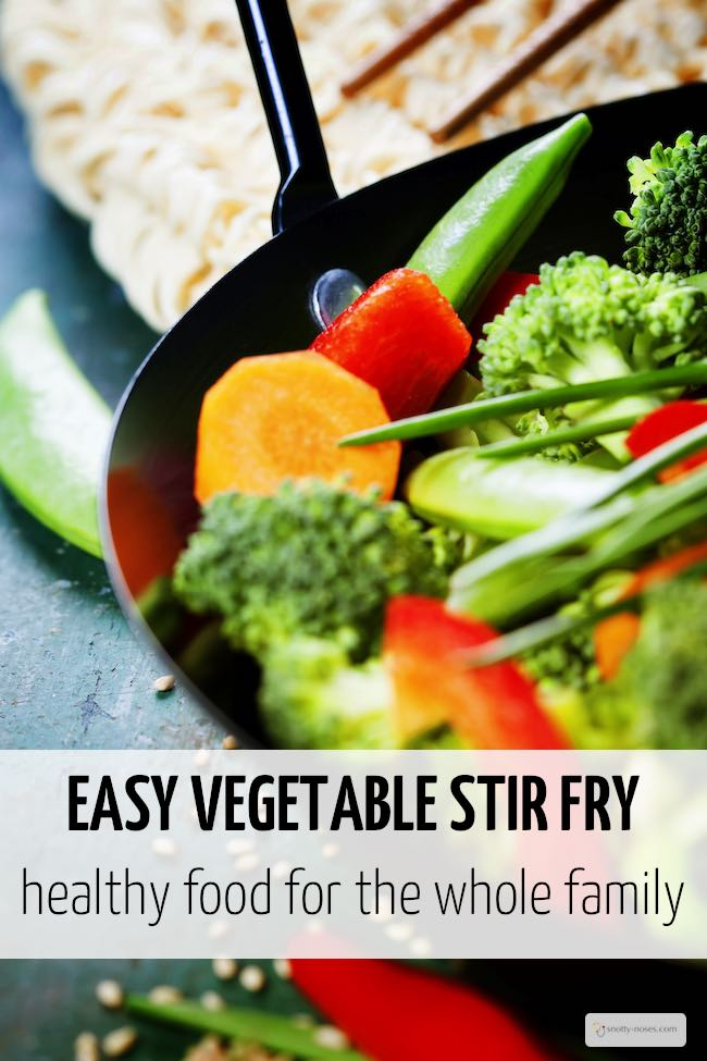 Vegetable Stir Fry. A quick, easy and healthy meal that the kids will love