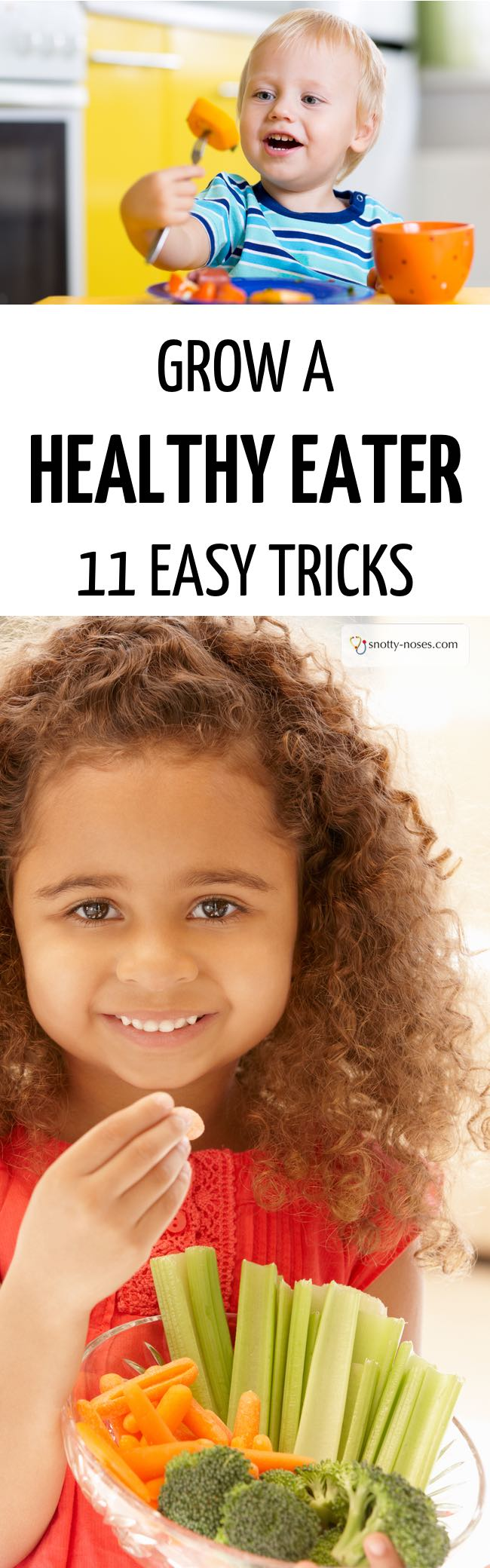 Grow a healthy eater! 11 tips to transform your child, picky eater or fussy toddler into a healthy eater.