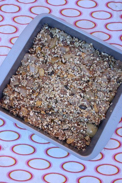 Healthy Apple Spice Nut Bars