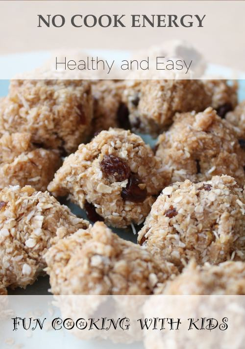No Cook Energy Balls. A healthy snack for children.