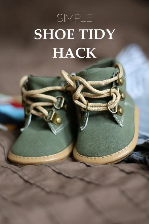 Simple Shoe Tidy Hack