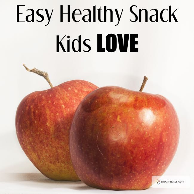 Healthy Snacks for Kids. Vanilla Yoghurt and Apple. A really easy and healthy snack that your kids will love.