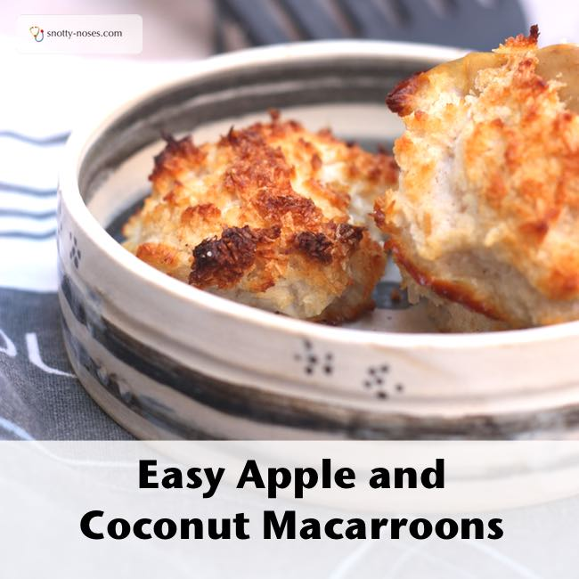 Easy Apple and Coconut Cookies, suitable for cooking with kids