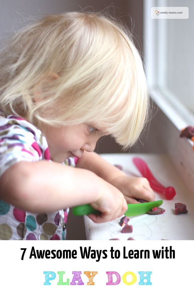 7 Awesome Ways to Learn with Play Doh. Have fun and learn with play dough.