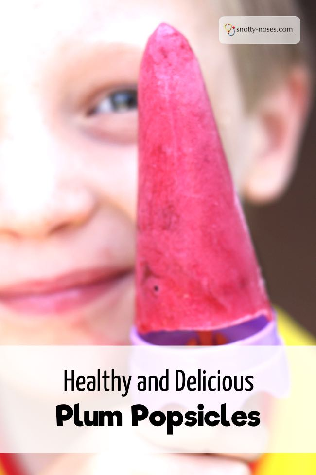 Plum Popsicle Recipe. Quick, easy and healthy