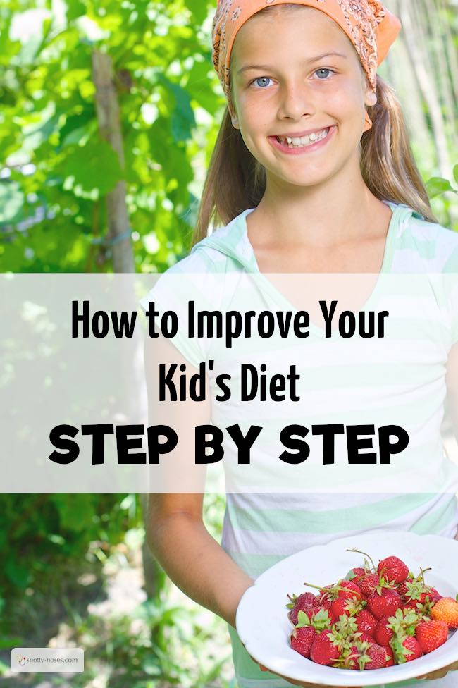 How to Improve Your Kid's Diet Step by Step. Make little manageable changes to your kid's diet and teach them healthy eating habits.