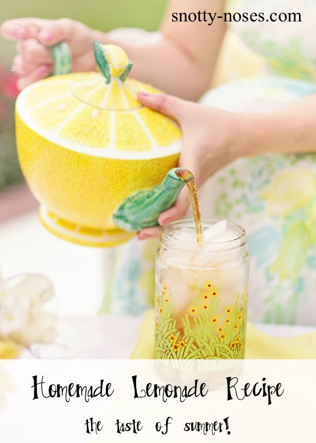Homemade Lemonade Recipe. A healthy treat for your Kids