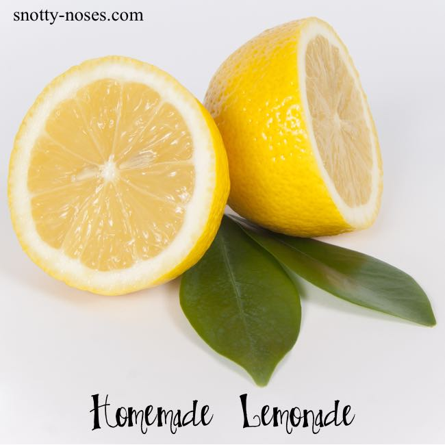 Homemade Lemonade Recipe. A healthy treat for your Kids