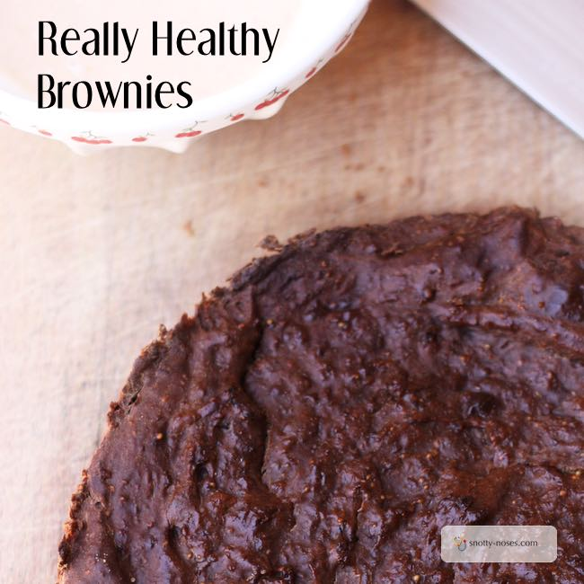 Healthy Brownie Recipe. An easy recipe using dried figs that you can make with kids. Quick, easy, healthy!