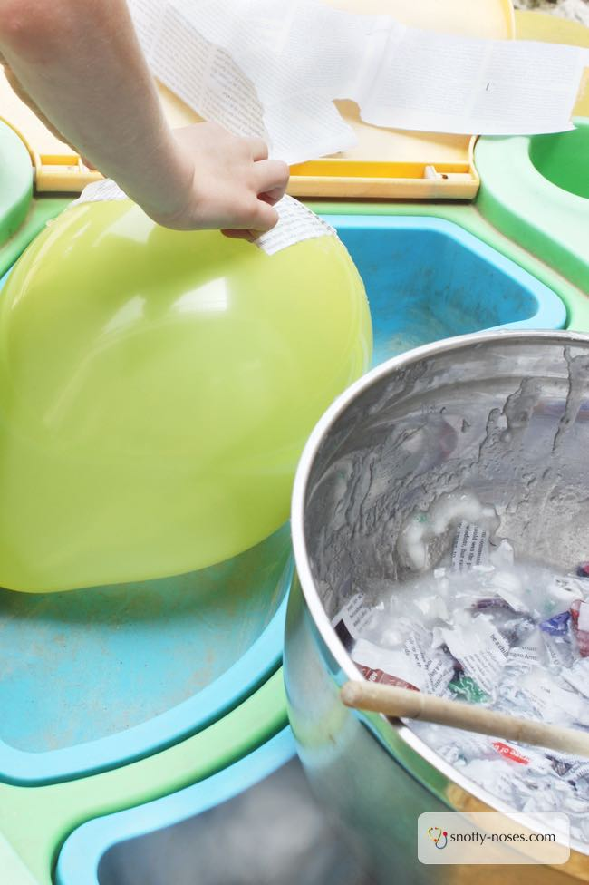 How to make Paper Mache Helmets. A really easy activity to nurture your child's creativity.
