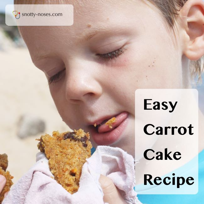 Carrot Cake Recipe. An easy and healthy cake recipe for a tasty healthy snack.