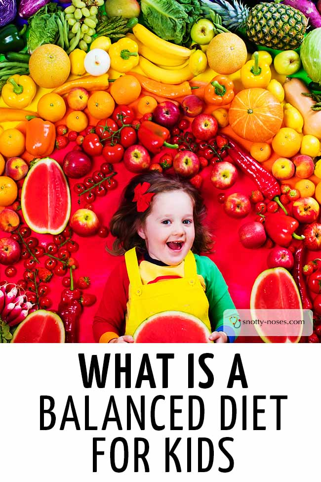 A little girl smiling while being surrounded by colorful fruits and vegetables. #parenting #parents #parenthood #parentlife #toddlers #kids #healthyeatingforkids #happyhealthyeatingforkids #dietforkids #kidsdiet
