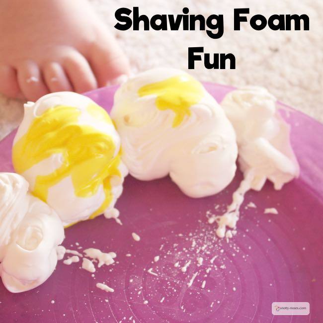 Shaving Foam Fun. A simple and fun activity to do with kids of all ages. Learn and Play