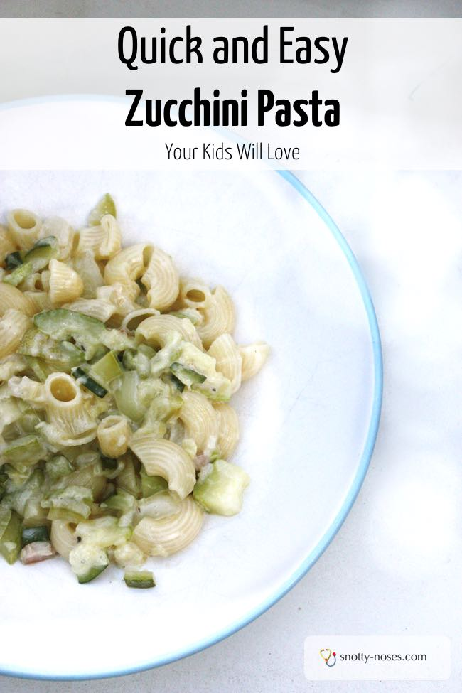 Creamy Zucchini (Courgette) Pasta Sauce. A quick, easy and healthy dinner or lunch recipe that your kids will love.