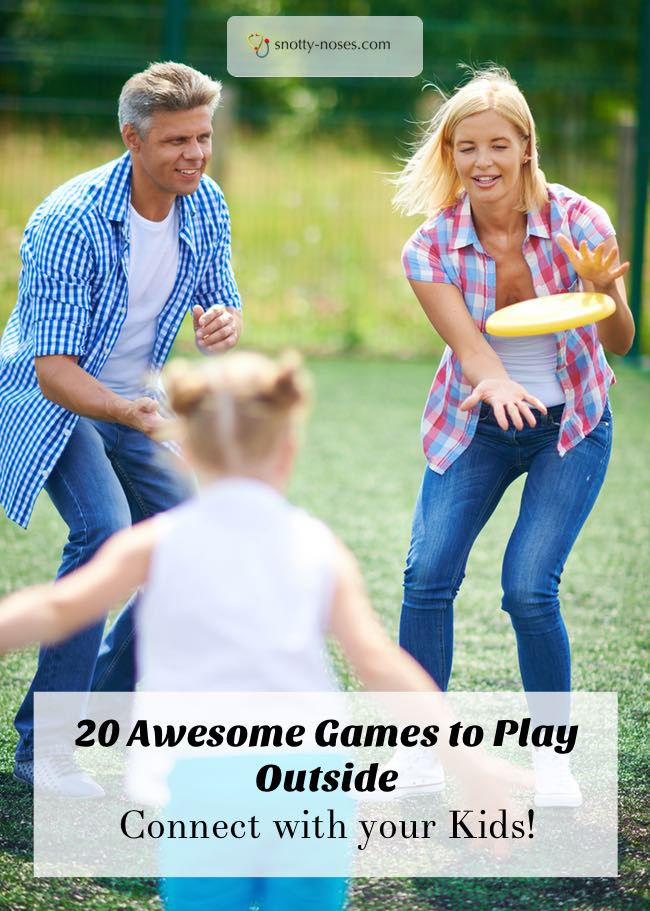 20 Awesome Outdoor activities for your kids. Turn off the TV and go and connect with your kids outside!