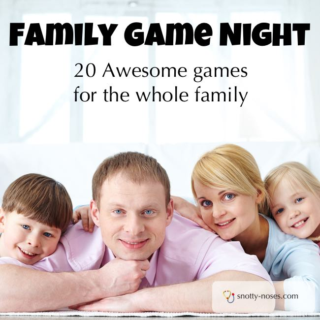 Family Game Night. 20 Awesome Games that you can Play with your Family. A great way to connect and create memories.