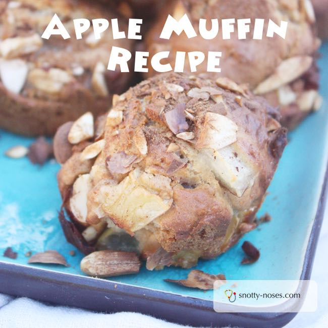 Apple Muffin Recipe. Cooking with Kids. Actually, just kids cooking! My 7 year old made these by himself. Yum!