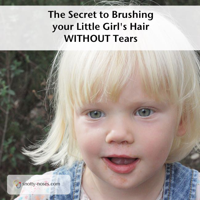 The Secret to Brusthing Your Little Girl's Hair Without Tears. Such an easy trick. I wish I knew before.