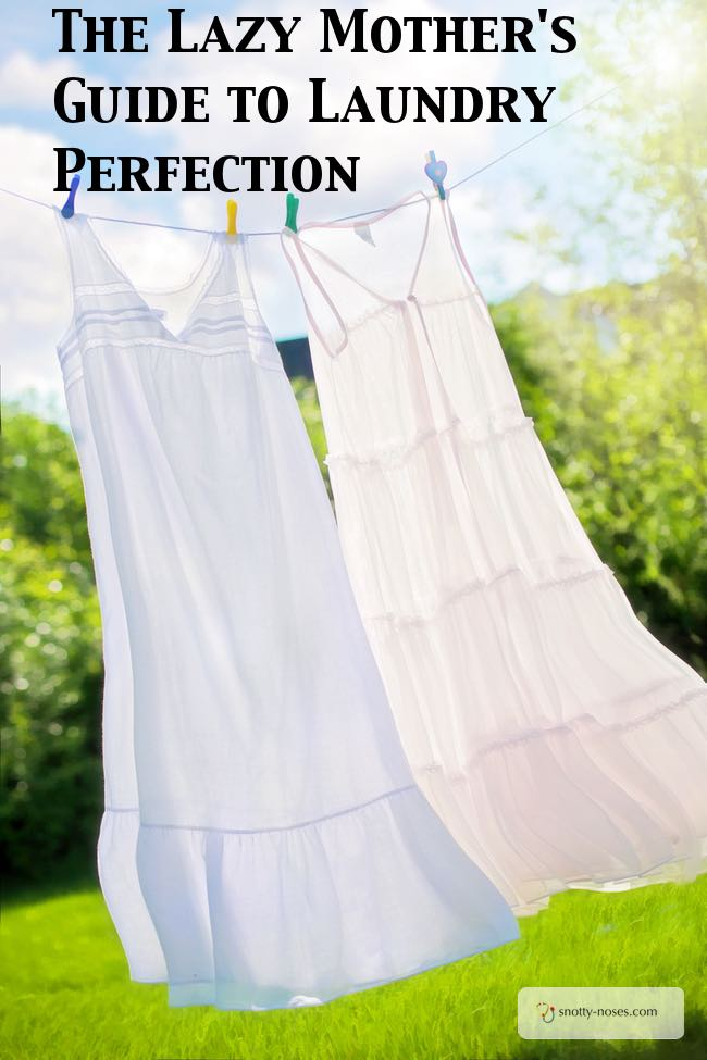 The Lazy Mom's Guide to Laundry Perfection. 11 Great tips to help you wash your clothes with the least amount of effort. Love no 8!