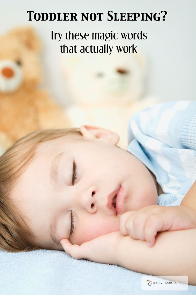 Toddler not sleeping? You'd be surprised at how these magic words can help your toddler or baby get to sleep.