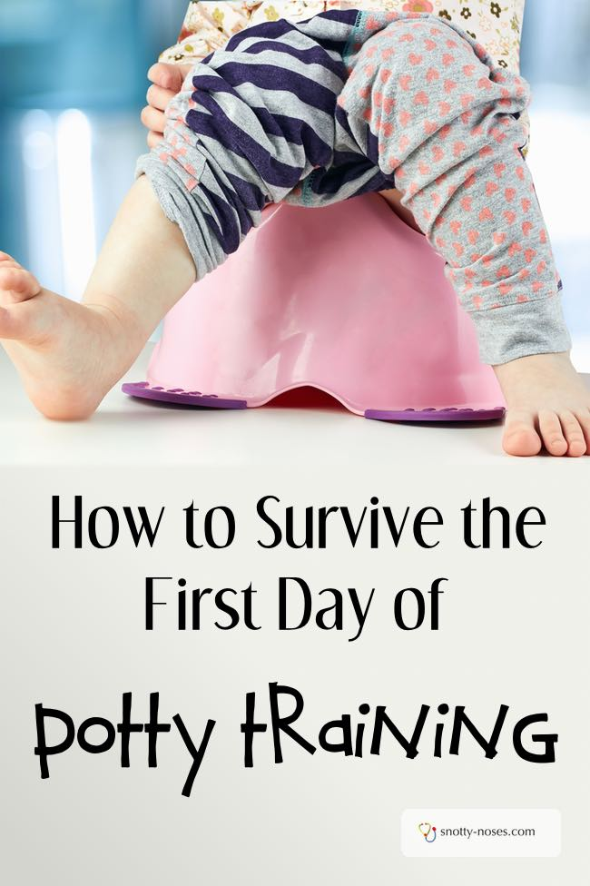 How to Survive the First Day of Potty Training. If you're thinking of the giant step that is potty training, better to be prepared. These tips will assure you a stress free first day of potty training.