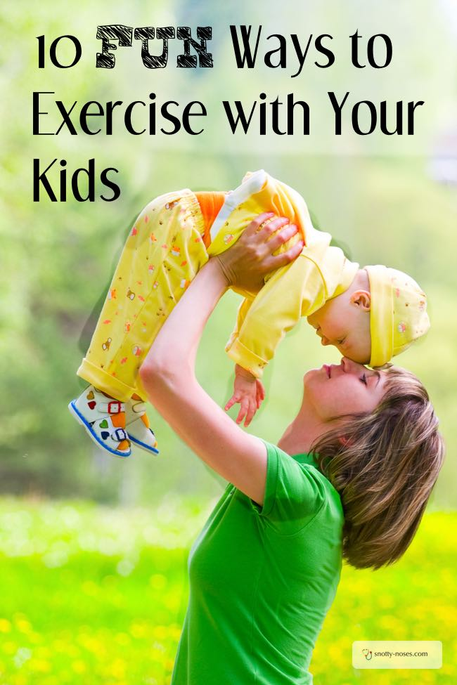 10 Fun Ways to Exercise with Your Kids. You don't have to miss out on exercise just because you have kids and there isn't enough time in the day. Why not exercise with your kids? Some great ideas to get you started. I love number 4.
