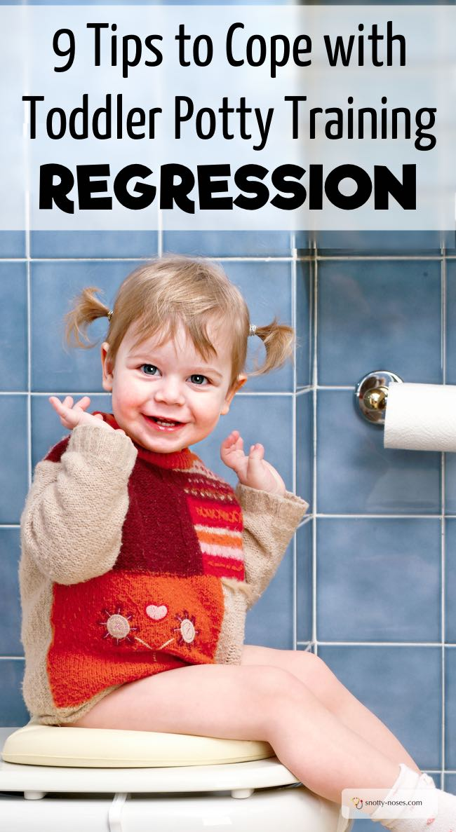 How to deal with regression in potty training