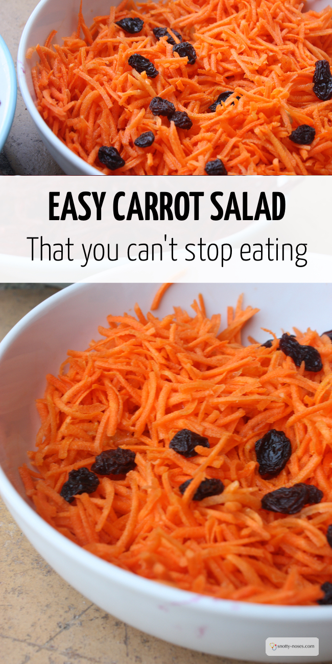 Easy Carrot Salad You Can't Stop Eating. So easy, delicious and healthy. Even your Kids will love it!