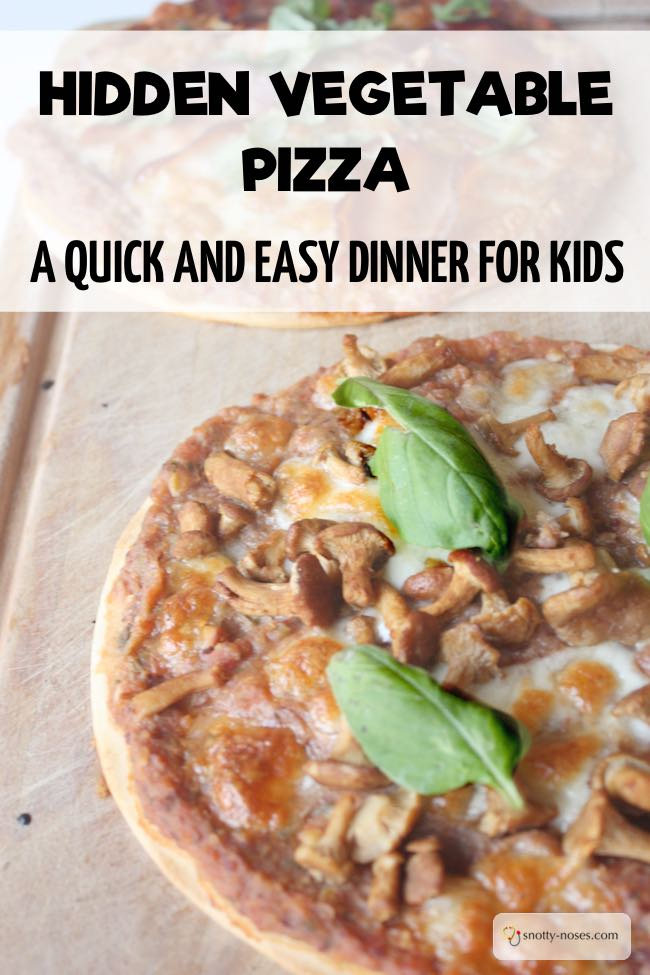 Healthy Homemade Pizza with Hidden Vegetables. A really quick and easy healthy dinner. Plus some great tips to teach your kids healthy eating habits