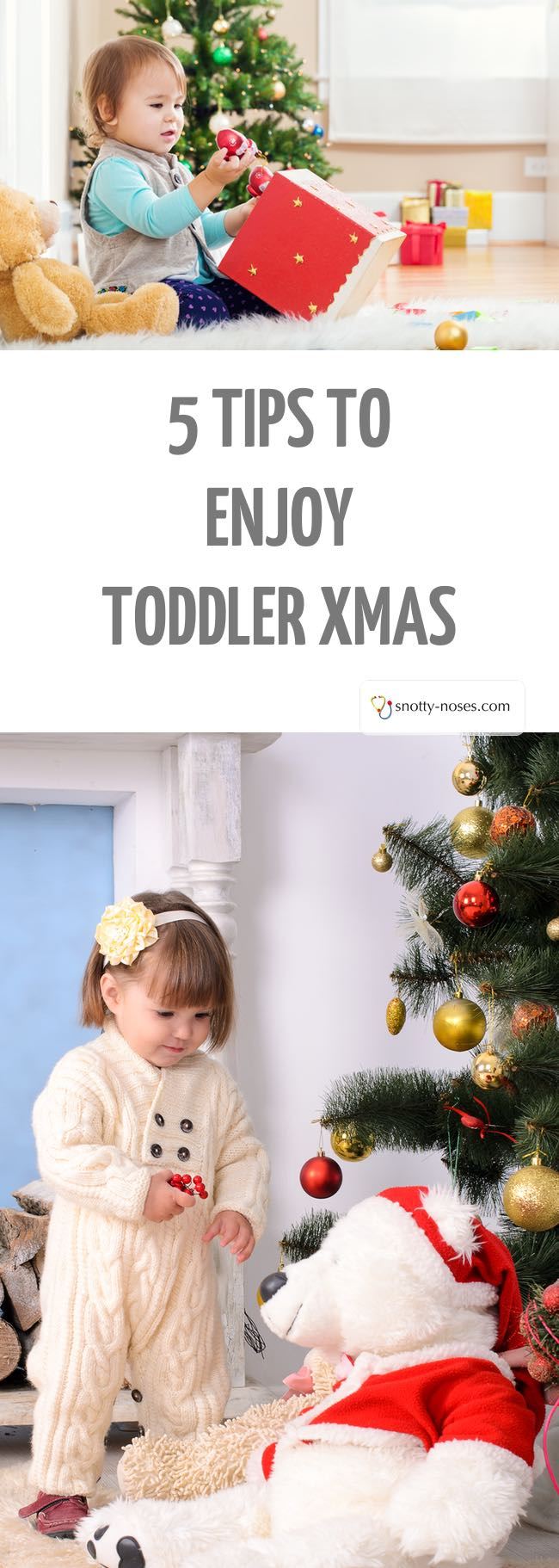 5 Tips to Enjoy Christmas With Your Toddler. Christmas is such an exciting time for toddlers but when routines go out the window, it can be really stressful. Some easy and simple strategies to help you stay on track and enjoy your toddler christmas