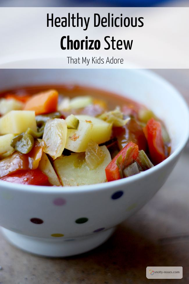 Spanish Chorizo Soup Recipe. A really healthy and really tasty dinner that your kids will love