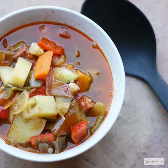 Spanish Chorizo Soup Recipe. A really healthy and really tasty dinner that your kids will love.