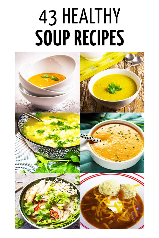A collage of healthy soups #parenting #parenting #parents #parenthood #parentlife #toddlers #kids #healthyeatingforkids #happyhealthyeatingforkids #mealplanning #mealpreparation #healthymeals #foodpreparation #healthyfood