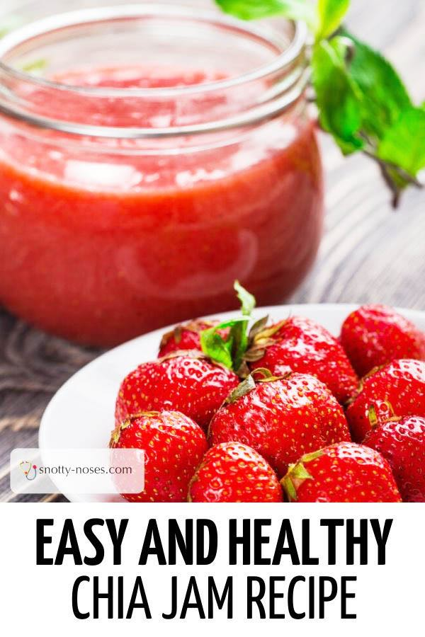 Easy and healthy chia strawberry jam recipe.