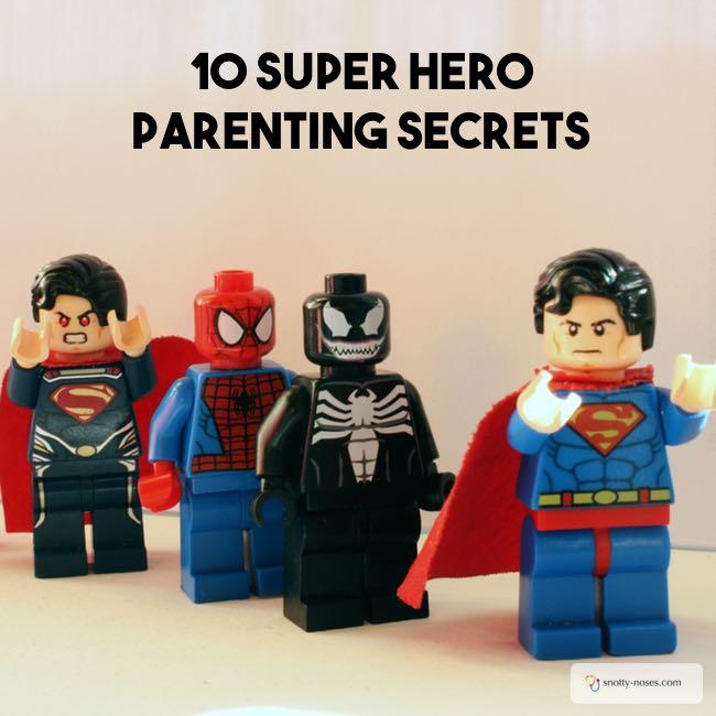 Parent like a Superhero. Some great parenting hacks thanks to superman and batman! I love #4!