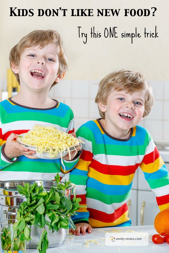 One Simple Trick To Help Children Try New Foods. Kids can be so resistant to new foods, but this is a simple way to help them enjoy trying something new.