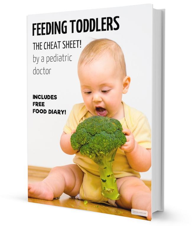 feeding your toddler cheat sheet and food diary