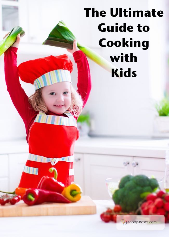 A child cooking. Cooking with Kids helps them learn responsibility