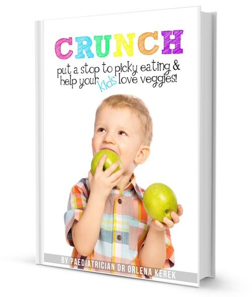Crunch! Put a Stop to Picky Eating and Teach your Kids to Love Veggies. A really helpful ebook written by a pediatric doctor and mother of 4 ex-picky eaters