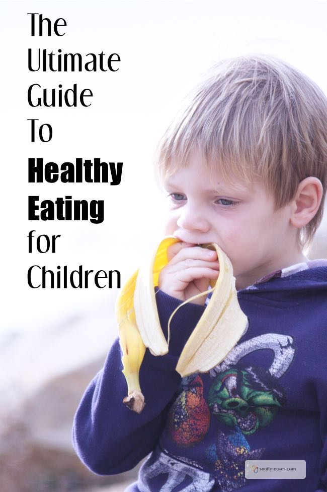 A child eating a banana. Healthy Meals and Healthy Eating for Children