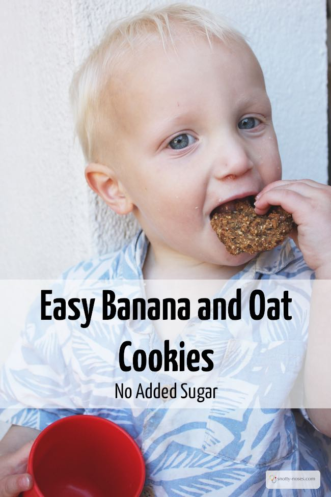 Banana Oat Cookies. A quick, easy, healthy snack for kids