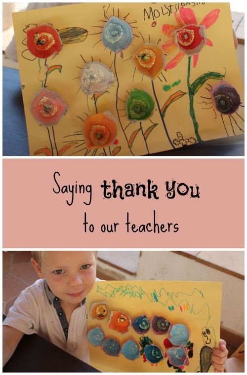 Learning to be grateful by saying thank you to our teachers