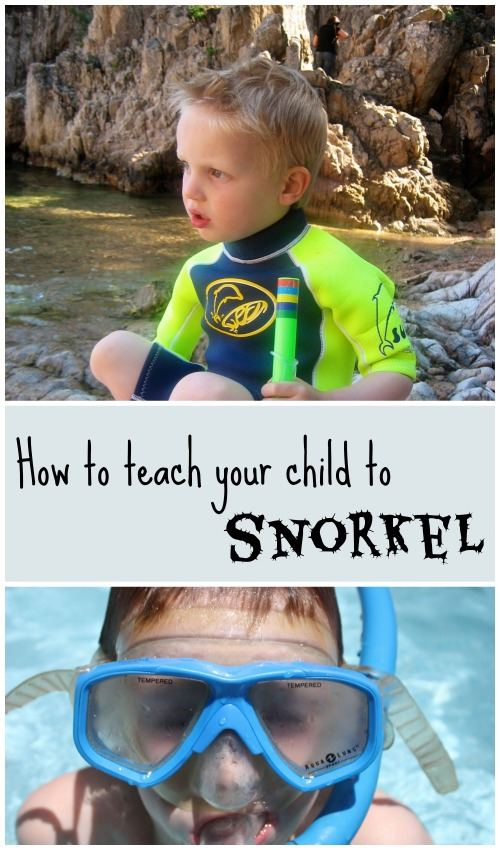 How to teach your children to snorkel