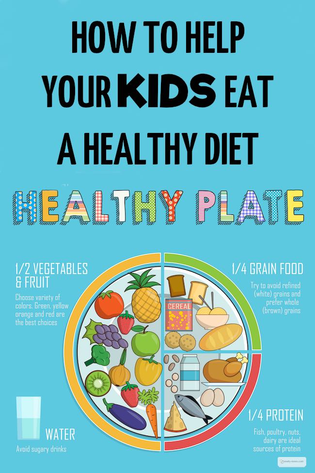 healthy diet for children has lots of fruit and vegetables