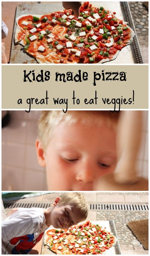 Cooking pizza with children is a great way to get them eating veggies