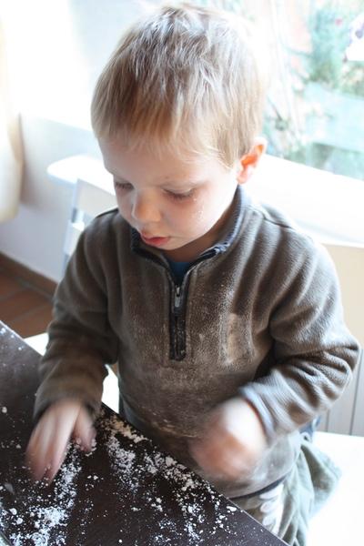 A messy boy